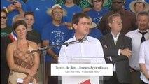 """Discours de Manuel Valls à l'évènement organisé par les Jeunes Agriculteurs """"les terres de Jim"""""""