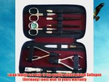Family Size Black Leather Manicure Pedicure Grooming Nail Care Set