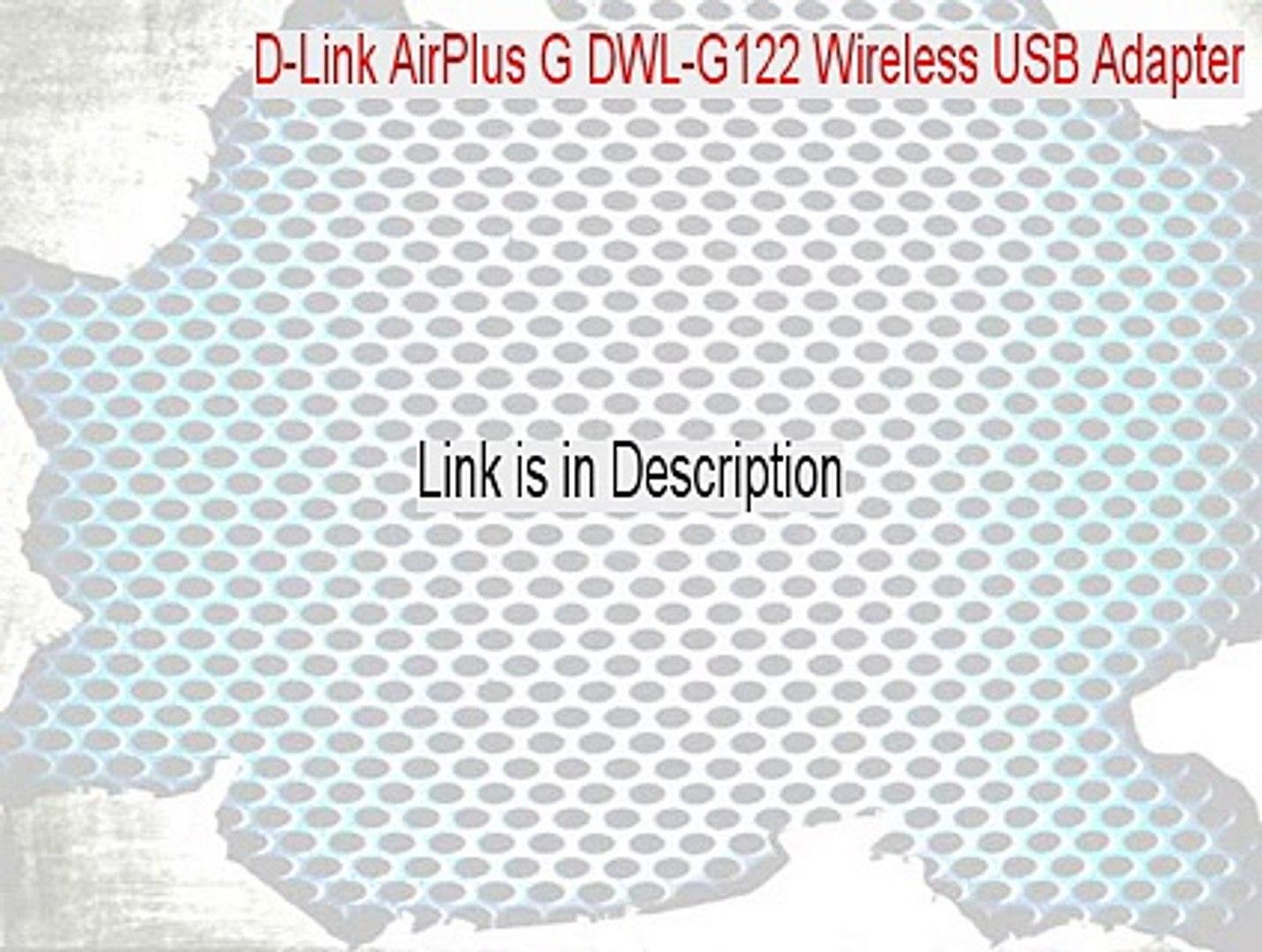 D-LINK DWL-G122 REV A2 DRIVER WINDOWS 7 (2019)