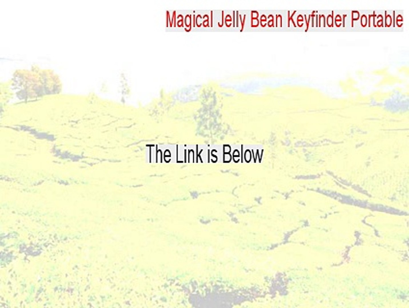 crack magical jelly bean keyfinder
