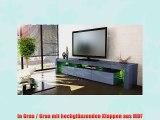 Tv Board Lowboard Lima V2 In Grau Schwarz Metallic Hochglanz