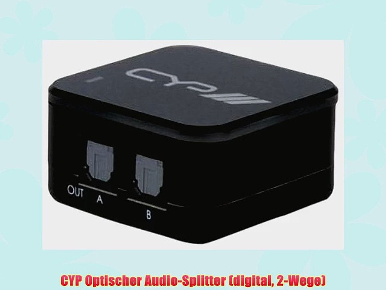 CYP 4-Fach Optischer Schalter Audio mit Infrarot-Fernbedienung