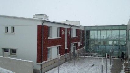 Fortes chutes de neige à Villefranche-de-Lauragais en Haute-Garonne