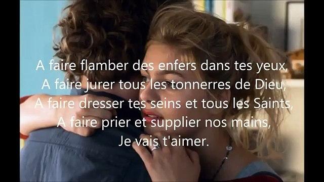 Je Vais T'aimer Lyrics   La Famille Bélier  Louane