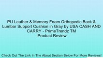 PU Leather & Memory Foam Orthopedic Back & Lumbar Support Cushion in Gray by USA CASH AND CARRY - PrimeTrendz TM Review