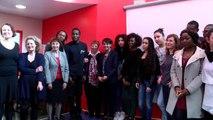 [ARCHIVE] Journée internationale des droits des femmes. Najat Vallaud-Belkacem au lycée d'Alembert (Paris)