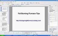 Fat burning furnace- tips on fat burning
