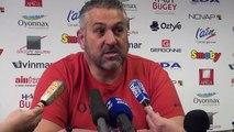 Rugby Top 14 - Christophe Urios réagit après Oyonnax - Toulouse 1ère partie
