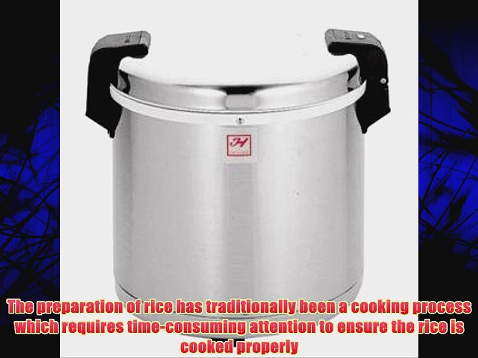Uncooked Stainless Steel Zojirushi NYC-36 20-Cup Commercial Rice Cooker and Warmer