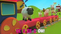Bob, The Train - Learn Farm Song With Bob  Old MacDonald  Went To The Farm  Animal Sound Song (HD)