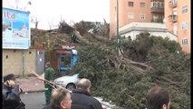 Napoli - Maltempo, crolli e paura per forti raffiche di vento (06.03.15)