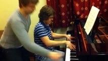 2 pianistes de génie improvisent sur Stars and Stripes de Horowitz