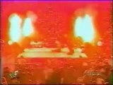 Undertaker Sets Fire to Kane Effigy -Saves Sable - WWF Raw 1998