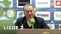 Conférence de presse ESTAC Troyes - Clermont Foot (2-0) : Jean-Marc FURLAN (ESTAC) - Corinne DIACRE (CF63) - 2014/2015