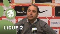 Conférence de presse AS Nancy-Lorraine - Stade Lavallois (1-1) : Pablo  CORREA (ASNL) - Denis ZANKO (LAVAL) - 2014/2015