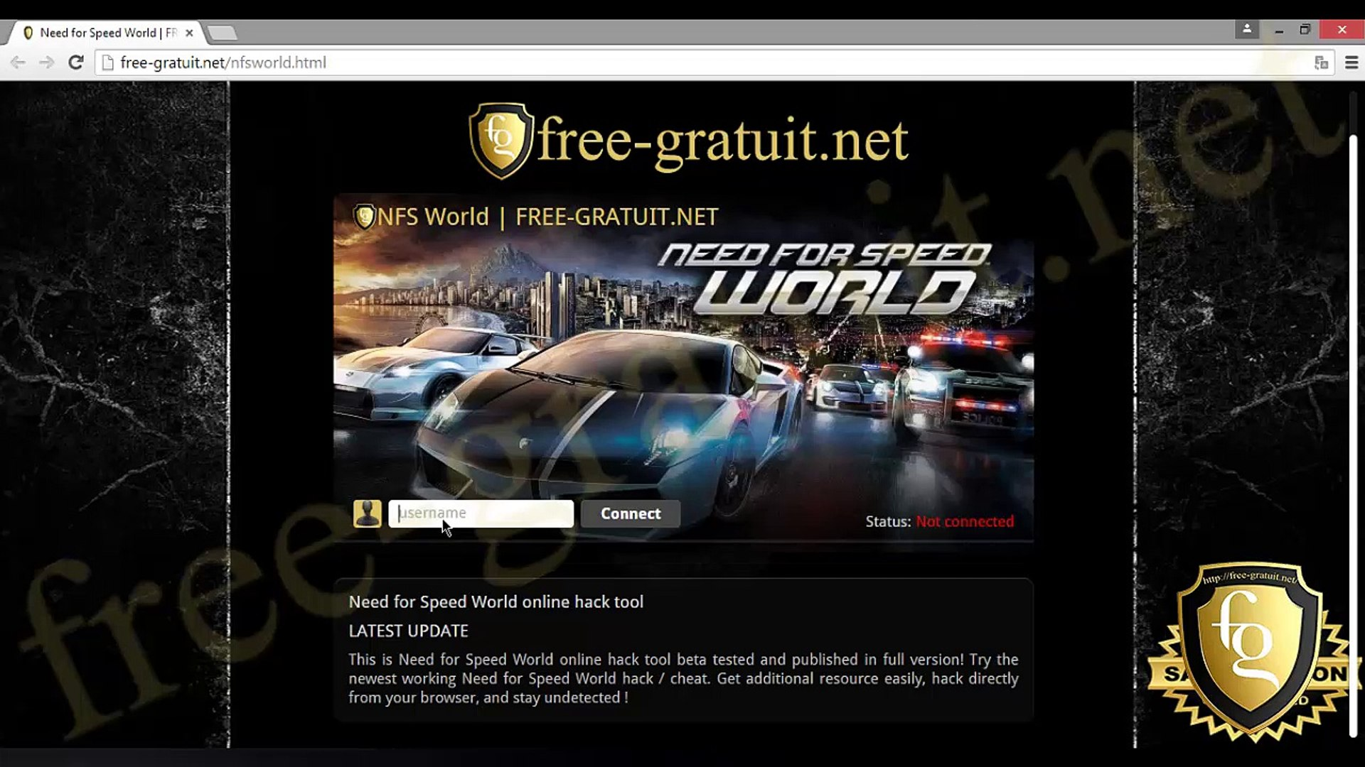 Need for speed world TRICHE GRATUIT 2015
