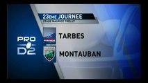 PRO D2 –Tarbes - Montauban: 12-12 - J23 – Saison 2014-2015