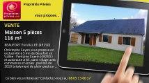 A vendre - maison - BEAUFORT EN VALLEE (49250) - 5 pièces - 116m²