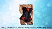 Womens Corset Bustier bow lace corset bodice 2 colors Review