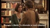 Gonzalo y Maria/Gonzalo e  Maria. Gonzalo regala un ramo di mimosa a Maria.