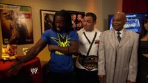 Kofi Kingston, Santino Marella, Teddy Long, Aksana, Zack Ryder, Hornswoggle and The Great Khali Backstage Segment