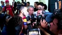 Exclusivo! Luis Fabiano pula cerca para fugir de entrevista após derrota para o Corinthians