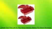Esprit de Cuisine by Appolia Retangular 2 Piece Terrine With Lid Set, Red Currant Review