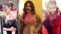 Alia Bhatt,Varun Dhawan,Sonakshi Sinha- Bollywood Celebrities Holi Moments