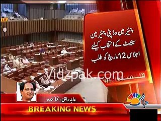 Government ponders to postpone voting for election of Chairman, Dy Chairman Senate
