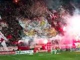 Olympiakos Sochaux, entrée des joueurs