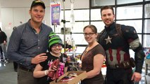 Chris Pratt and Chris Evans' Make Super Bowl Bet Visit to Seattle Children's Hospital