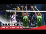 UAAP 77: Tiamzon attack and avoid 2 defenders of DLSU lady spikers