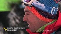 EM130 Mission : faire du kayak sur la neige !