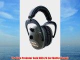 Pro Ears Predator Gold NRR 26 Ear Muffs (Green)