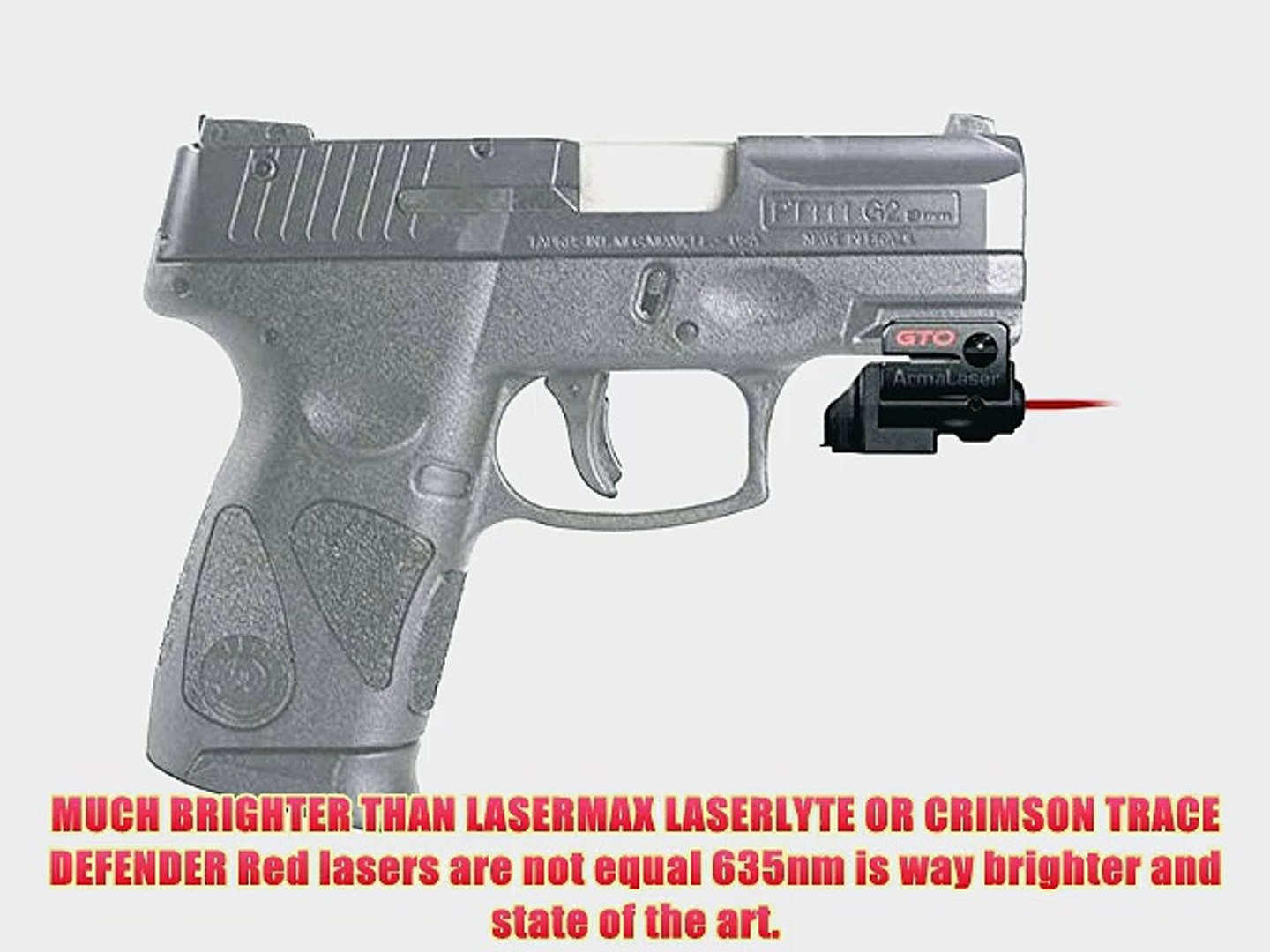 ArmaLaser GTO/FLX Red Laser Sight for Taurus PT111/PT140 G2 GTO/FLX23