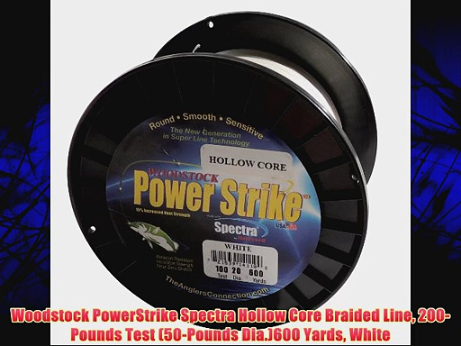 Woodstock PowerStrike Spectra Hollow Core Braided Line 200-Pounds Test (50-Pounds Dia.)600