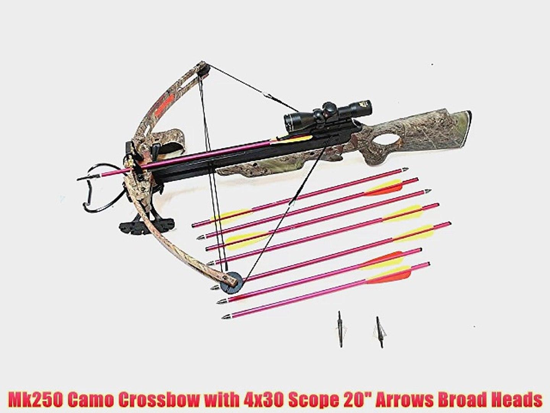 150lbs Hunting Crossbow 8 Arrows Scope Laser Broadheads