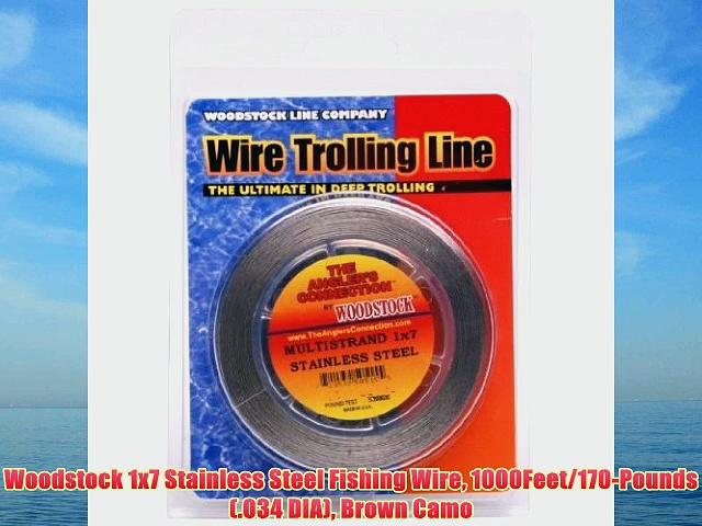 Woodstock 1×7 Stainless Steel Fishing Wire 1000Feet/170-Pounds (.034 DIA) Brown Camo