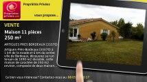 A vendre - maison - ARTIGUES PRES BORDEAUX (33370) - 11 pièces - 250m²