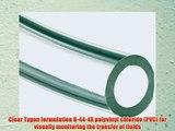 Tygon B-44-4X PVC Food And Dairy Tubing 1-1/2 ID 2 OD 1/4 Wall 50' Length Clear