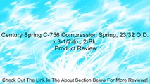 Century Spring C-756 Compression Spring, 23/32 O.D. x 3-1/2-In., 2-Pk. Review