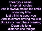 Missing you by Taylor Swift and Tyler Hilton with lyrics on screen