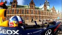 David Coulthard sillonne les rues de Copenhague avec sa monoplace