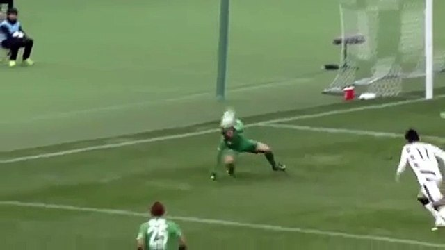 Shaolin Soccer In Real Life  Incredibly Funny Assist From Player Lying On The Field