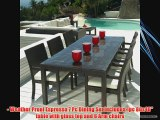 Outdoor Wicker Patio Furniture New Resin 7 Pc Dining Table Set with 6 Chairs