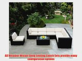 ohana collection PN0804 Genuine Ohana Outdoor Patio Wicker Furniture 8-Piece All Weather Gorgeous