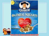 Quaker Oatmeal Squares Crunchy Oatmeal Cereal with a Hint of Brown Sugar 16-Ounce Boxes (Pack