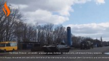20150309 - unknown place, Donetsk - Ukraine army withdrawal of heavy weapons