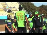 Misbah, Irfan challenge batsmen as Pakistan team starts training for next cricket encounter world cup 2015