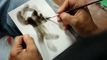 Cet artiste est fascinant ! Il réalise des peintures avec du feu ! Regardez !